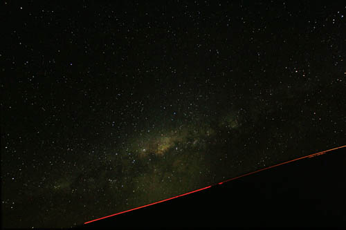 Photo de la voie lactée, paranal 2010 - Optrolight